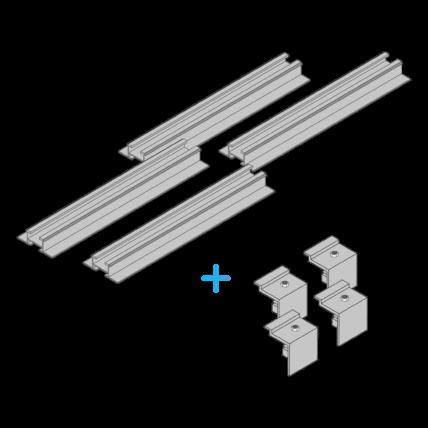 Schiene für die Wandmontage der Solarpanele