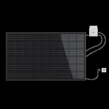 LightMate, il fotovoltaico a spina per giardino, parete e balcone