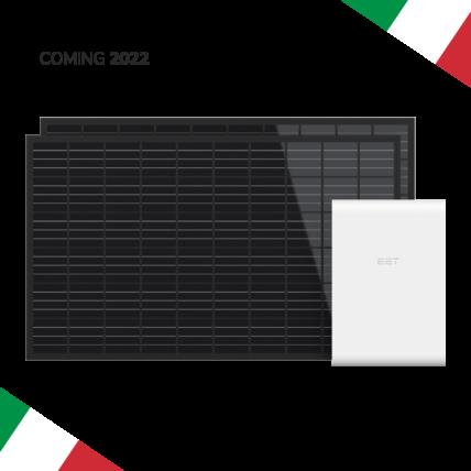 Sistema fotovoltaico con accumulo per l'Italia